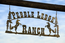 Pebble Ledge Ranch Entrance Sign